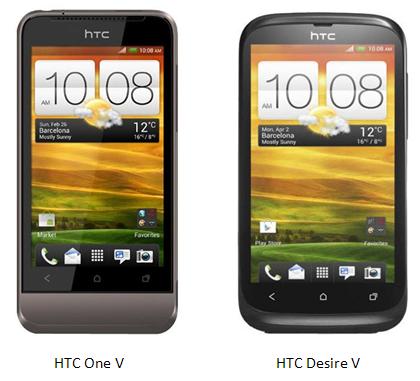 HTC Desire V vs HTC One V