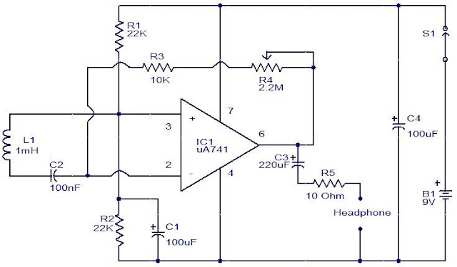 Electro Magnetic Field sensor circuit