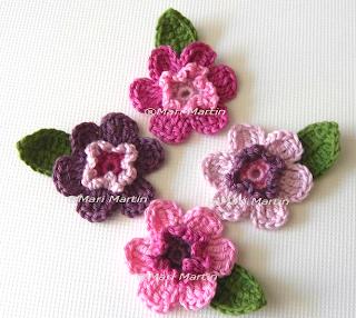Crochet Flower Applique Rose