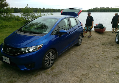 Unloading the Honda Fit