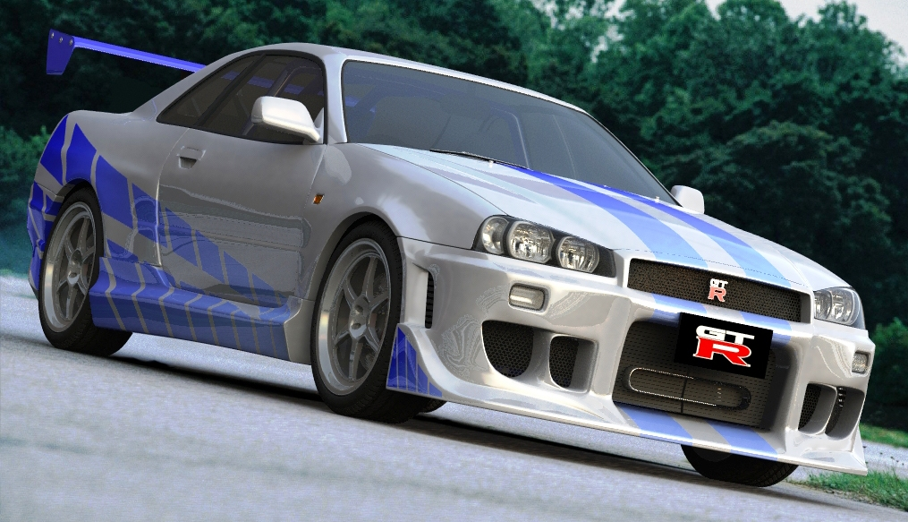 nissan skyline r34 gt r 2 fast 2 furious fast speedy cars. Black Bedroom Furniture Sets. Home Design Ideas