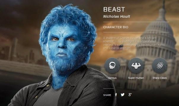 http://www.x-menmovies.com/#!/character/beast