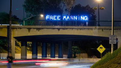 FREE BRADLEY MANNING Overpass Light Brigade