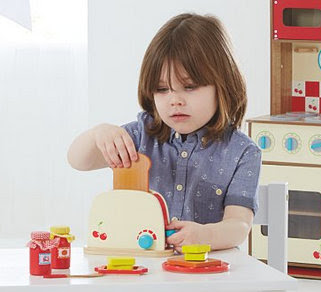 Asda wooden breakfast set unisex boy with long hair