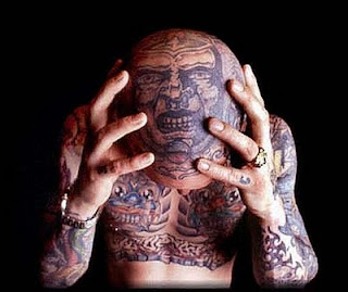 Bald Head Tattoo Design Photo Gallery - Bald Head Tattoo Ideas