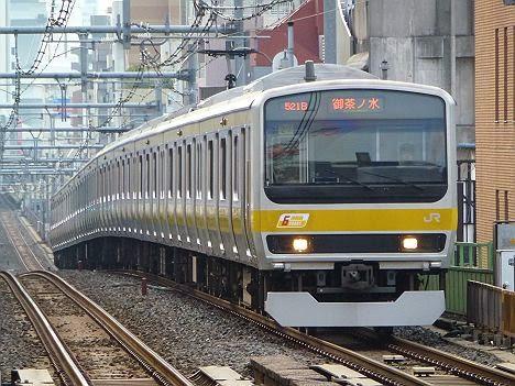 総武緩行線 御茶ノ水行き E231系(早朝夜間のみ運行)
