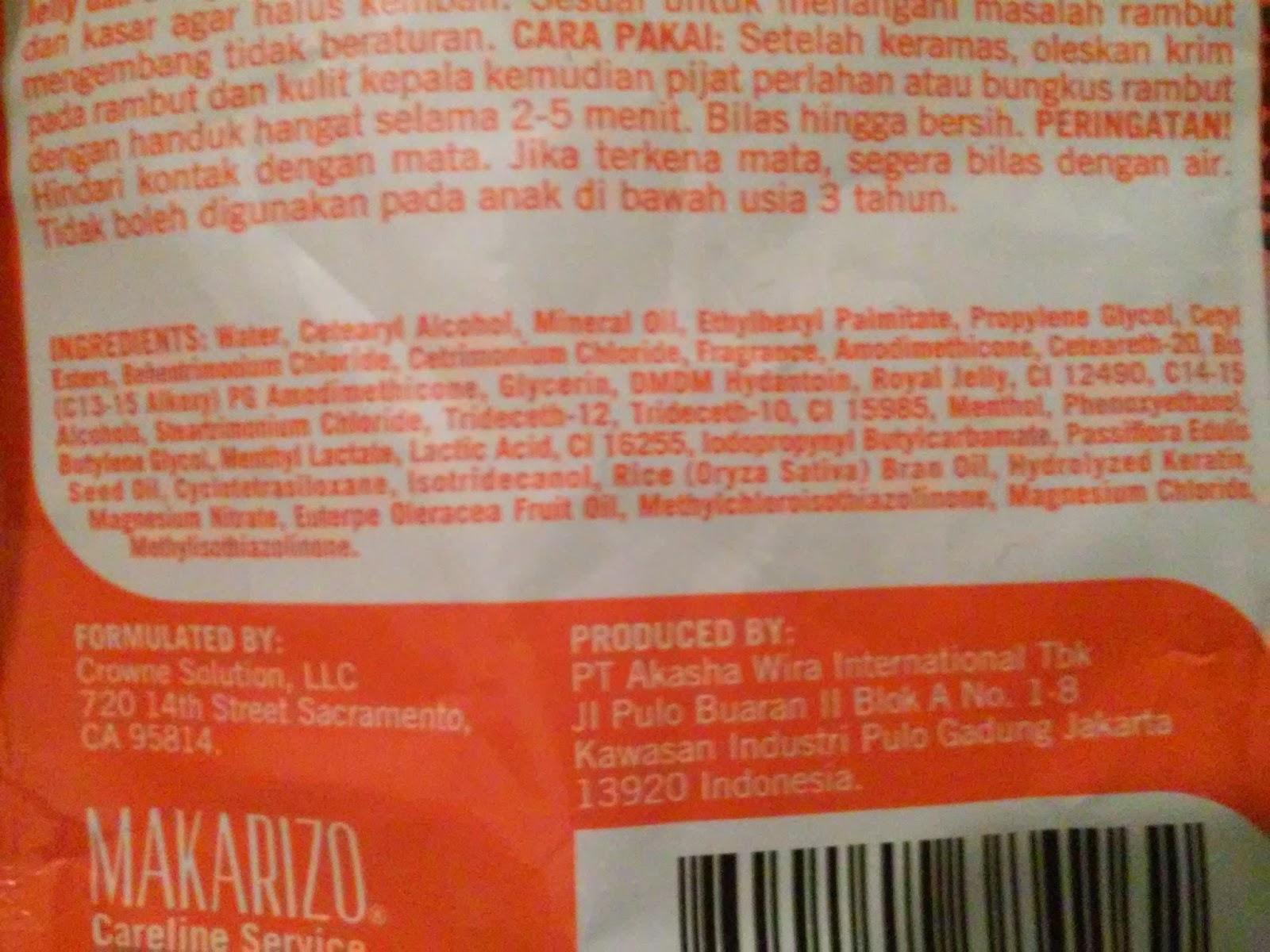Makarizo Hair Energy Fibertherapy Royal Jelly Extract Scalp Creambath Aloe Ampamp Melon Sachet 30 Gr Review Cream