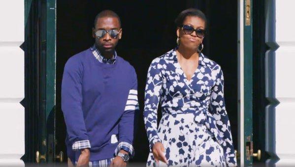 Michelle Obama participa de rap para incentivar jovens na faculdade