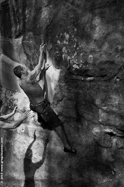Crosse en l'air, circuit rouge, Roche aux sabots, Trois Pignons, (C) 2015 Greg Clouzeau