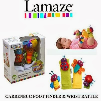 Lamaze Gardenbug Foot Finder & Hand Wrist - HOTTEST ITEM!!!