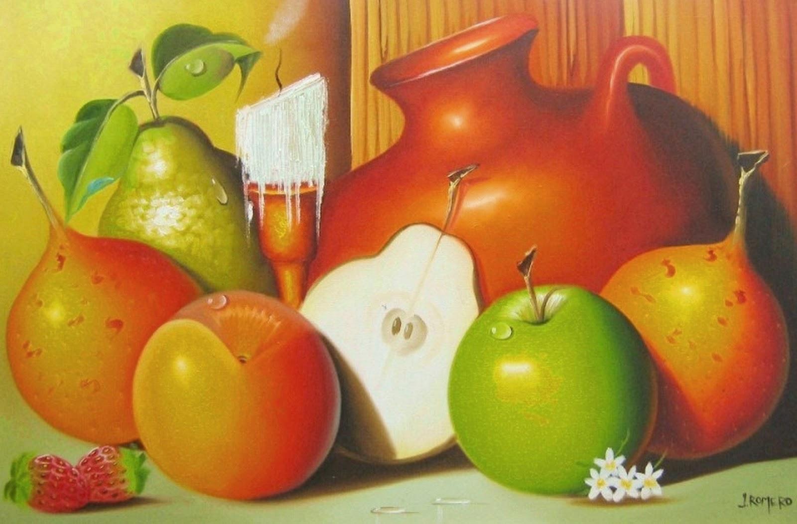 Cuadros modernos pinturas y dibujos cuadros al leo para for Cuadros de pinturas para comedor