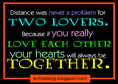Distance was never a problem for two lovers.