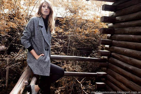 Moda otoño invierno 2014 tapados y sacos de mujer oversize - City Argentina otoño invierno 2014.