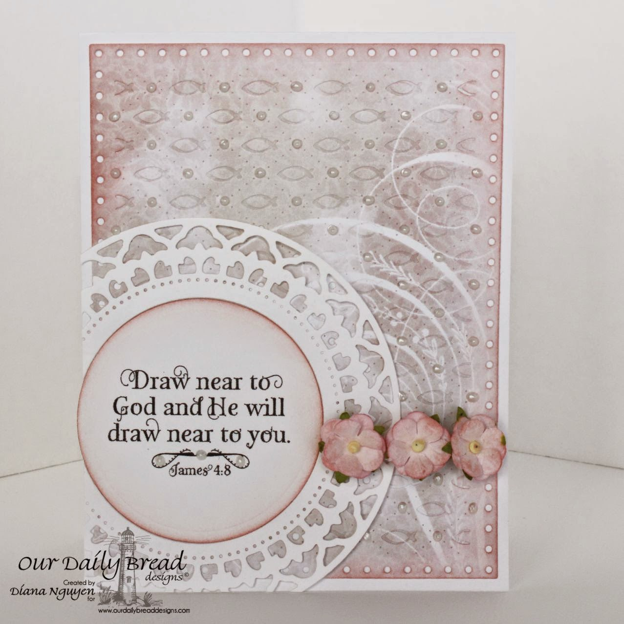 Shabby Rose Collection, Our Daily Bread Designs, God Verses, Faithful Fish Pattern Die, Designed by Diana Nguyen