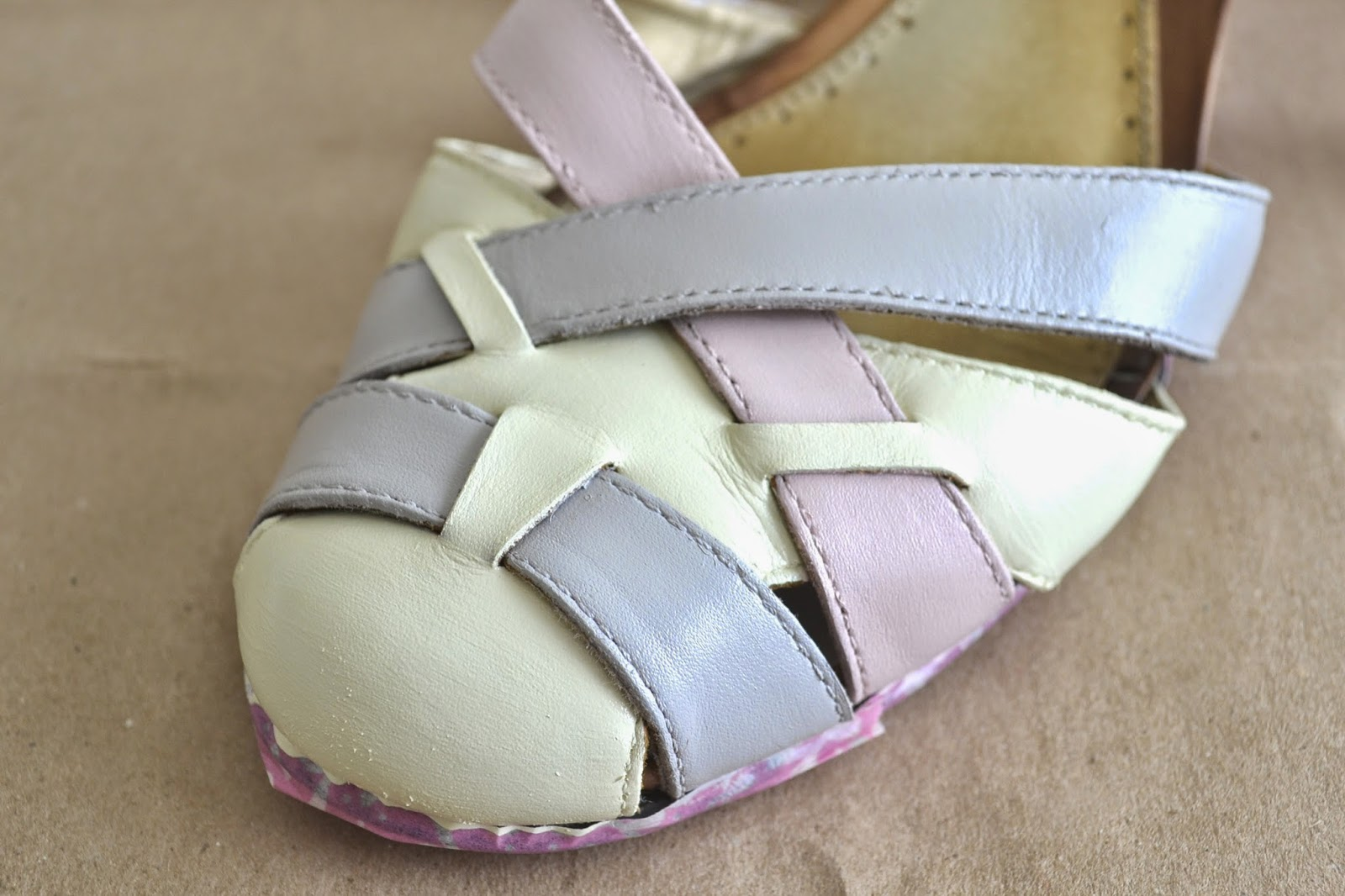 tea home tutorial how to paint leather shoes