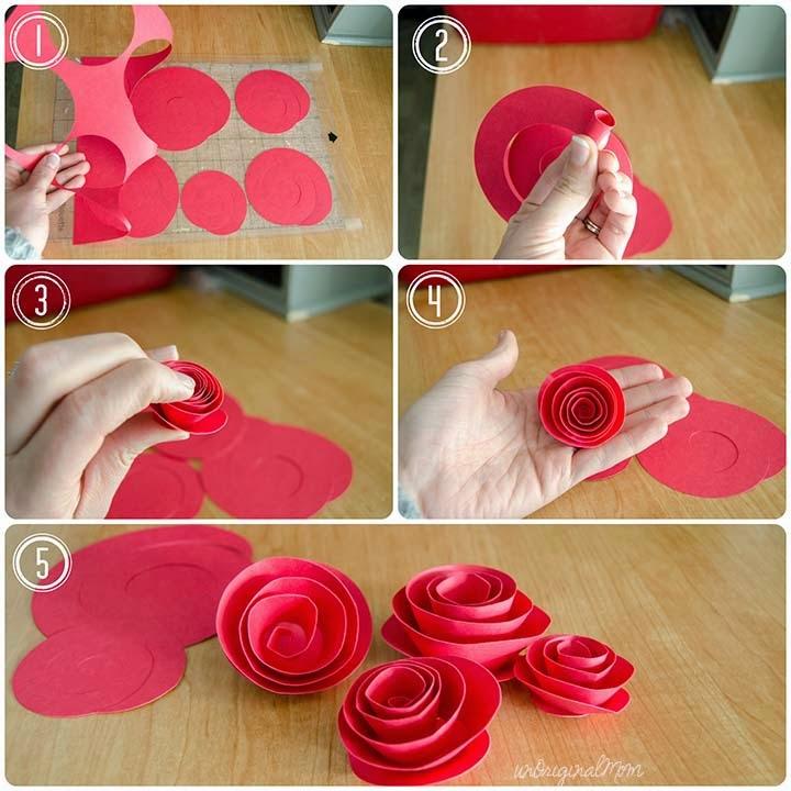 Сделать красивую розу из бумаги своими руками 40