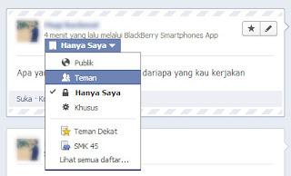 , Cara Update Status FB Seperti Melalui Blackberry Asli, Status via