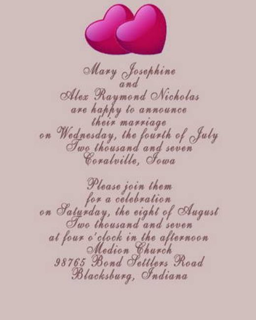 word 2013 wedding invitation