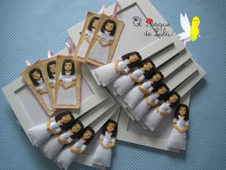 Marcos-foto-comunión-decorado-fieltro-personalizado-marcapáginas-regalo-comunión-invitados-muñeca-comunión