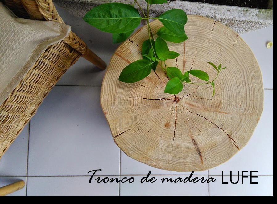 Decoraci n f cil decorando con mi mesita tronco de madera - Troncos de madera para decorar ...