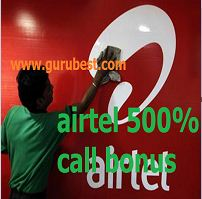 airtel 500% call bonus