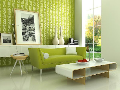 Site Blogspot  Living Room Interior Design on Green Living Room Interior Design