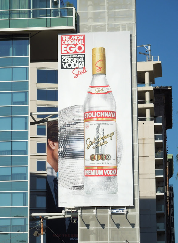 Stoli Most Original Ego disco ball billboard