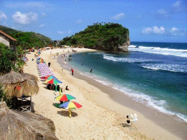 Pantai Indrayanti dilihat dari sisi barat