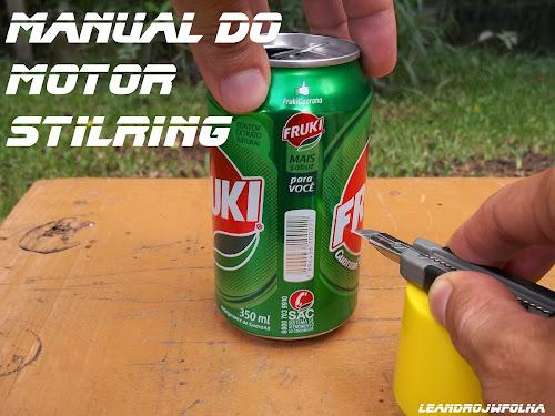 Manual do motor Stirling, corte da lata com estilete