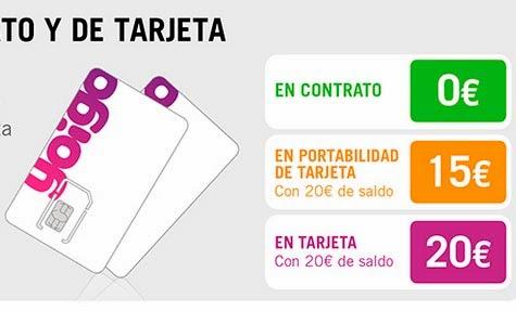 ¿Cuánto cuesta una tarjeta SIM de Yoigo en febrero 2014?