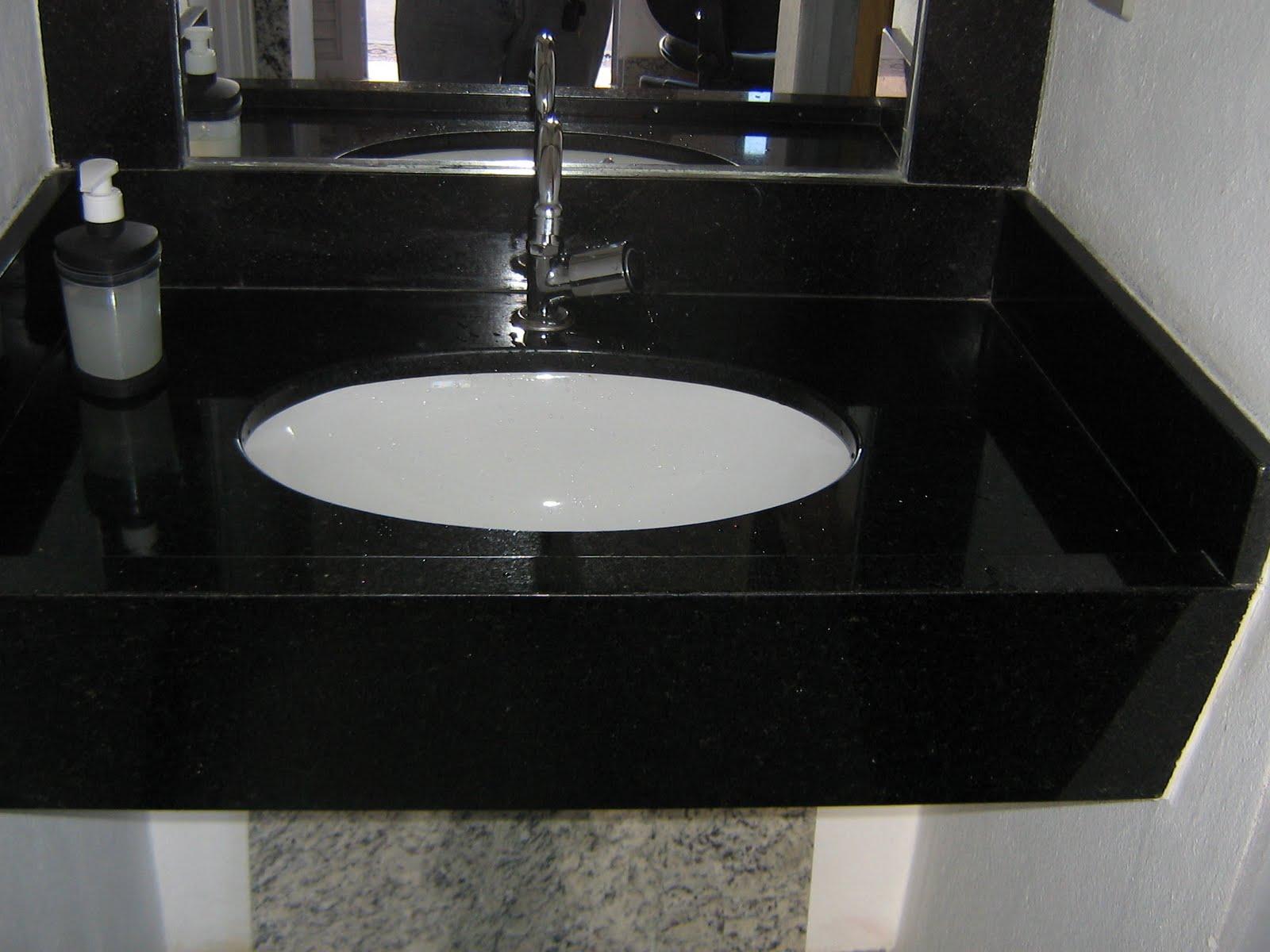 Casa da Sheila: Tons de granito e mármore #494C5E 1600x1200 Bancada Banheiro Largura