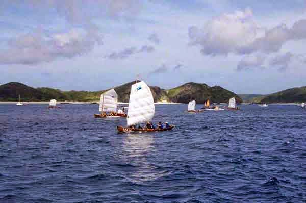 Traditional,sabani boats, race