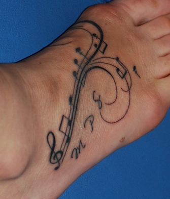 Caf au lait my day new tattoo for Tattoo noten
