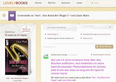 http://www.lovelybooks.de/autor/Liane-Mars/Aeri-Das-Band-der-Magie-1-1154243239-w/leserunde/1161217822/
