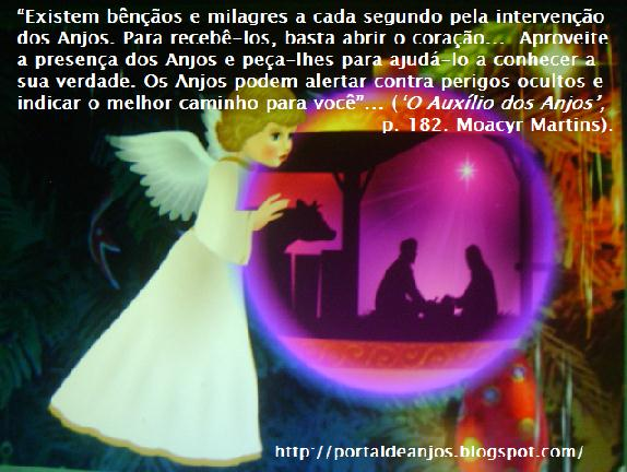 Mensagem de Natal! (Animated. Click on the Angel!)