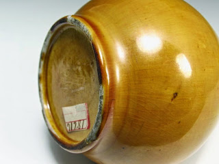 Foot-rim Amber glazed 18th C. Chinese Bottle Vase