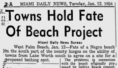 "History and example of historical revisionism: When ""Negroes"" were not welcome at the City's beach:"