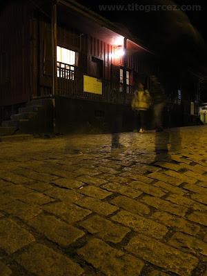 Rua de Paranapiacaba à noite