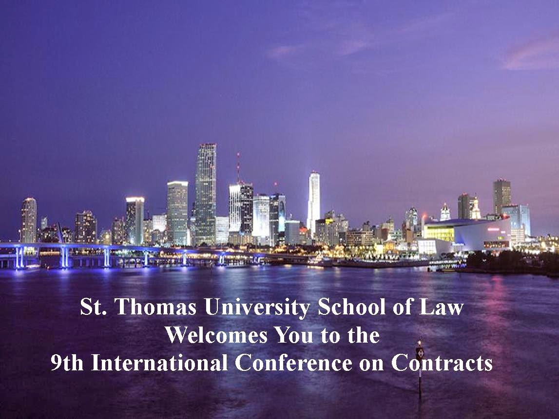commercial law video from international conference on contracts kcon9 available