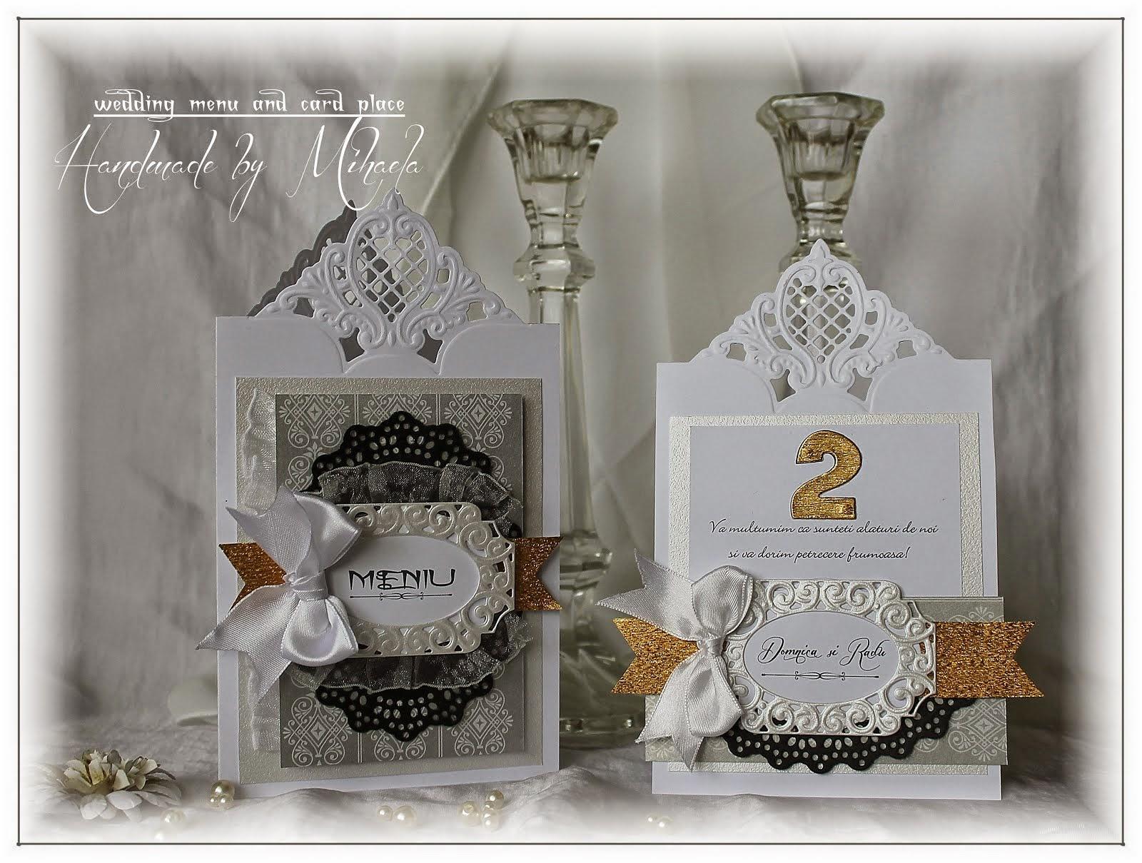 Wedding menu and place card