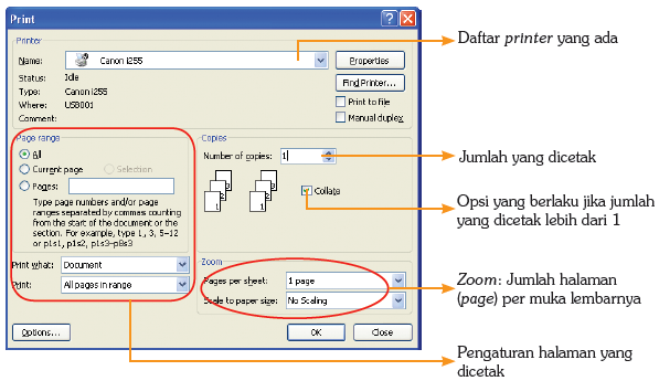 Dialog box Print.