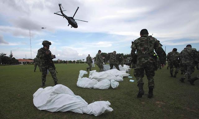 Un bombardeo en Guapí, Cauca; deja un saldo preliminar de 18 terroristas de las Farc dados de baja.