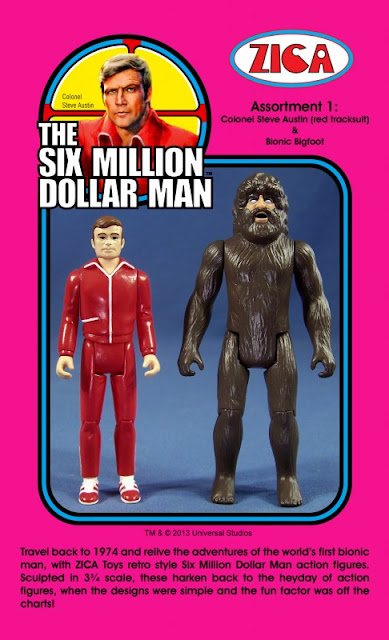 "Zica 3.75"" Six Million Dollar Man Steve Austin - Bionic Bigfoot Figures"