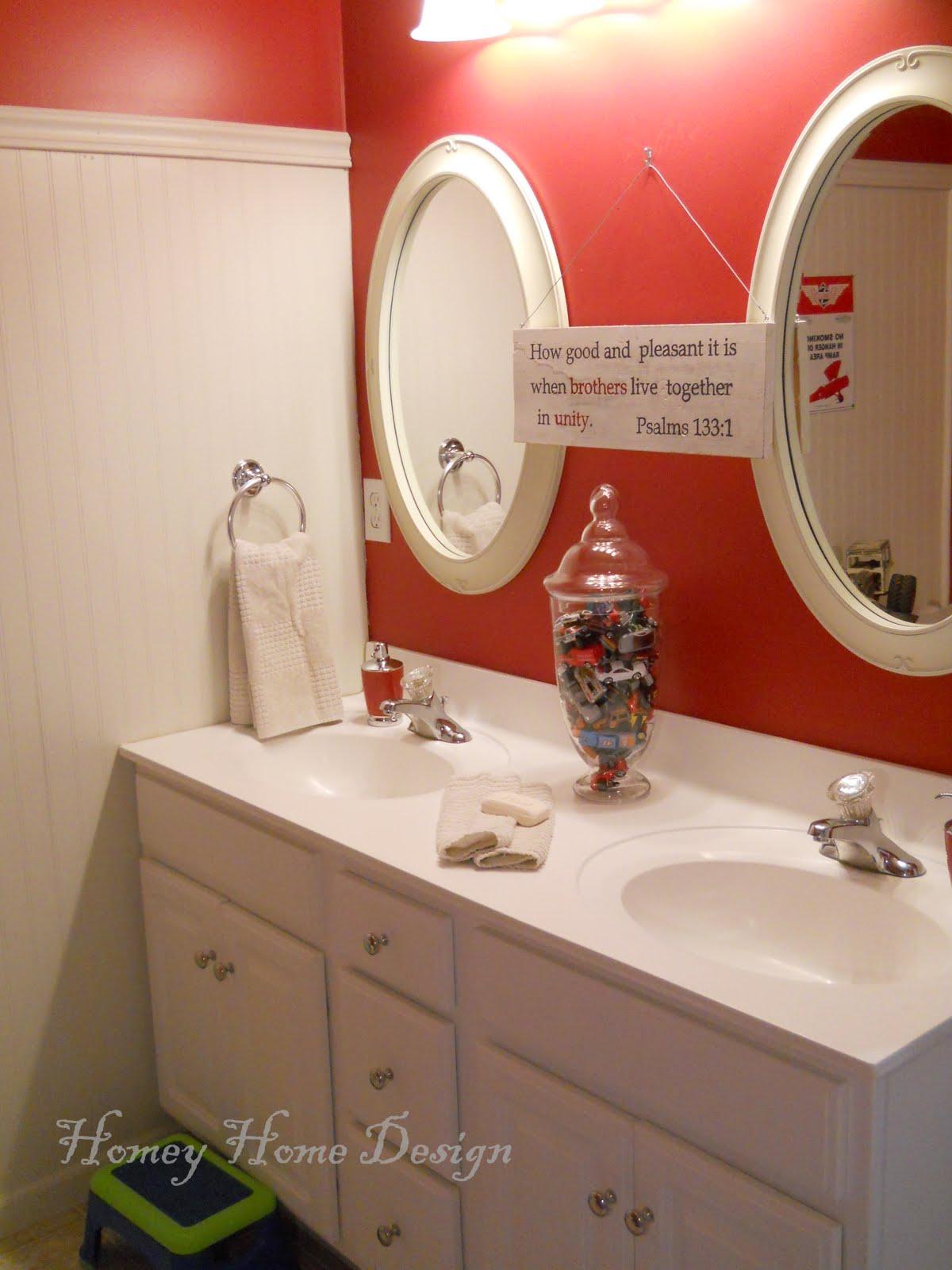 homey home design boys budget bathroom