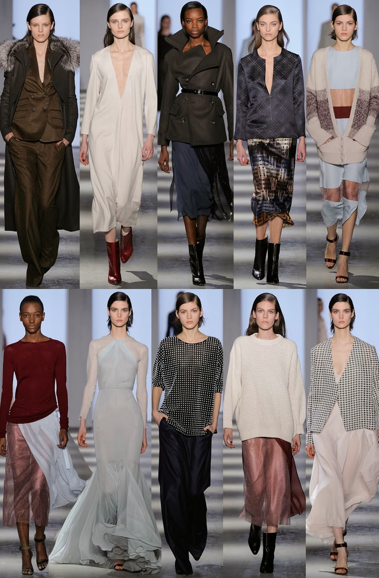 Wes Gordon fall winter 2014 runway collection, NYFW, fashion week, minimalism