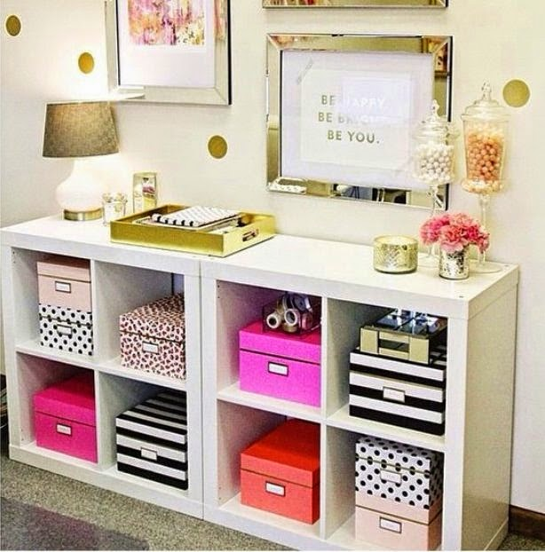 That Ikea Unit Is Staged So Beautifully With Decorative Boxes From Kate  Spade And I Wanted Them! Sadly, At Close To $60 For A Set Of 3 And The Fact  That I ...