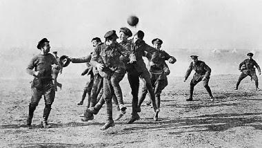 No Natal de 1914  foi disputada a mais bonita partida de futebol de todos os tempos
