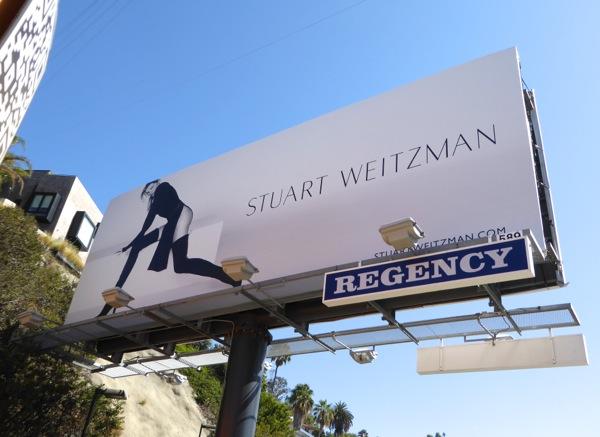 Gisele Bundchen Stuart Weitzman Fall15 billboard
