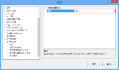vs2012 O/R Designer修改