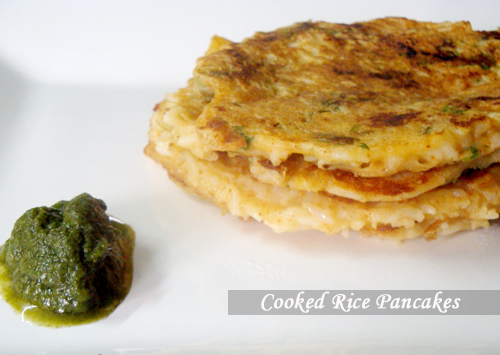 Cooked Rice Pancake - My Tasty Curry